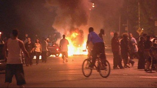 Scena da un riot qualsiasi (non è Genova)
