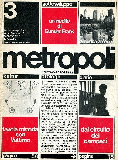 Il terzo numero di Metropoli