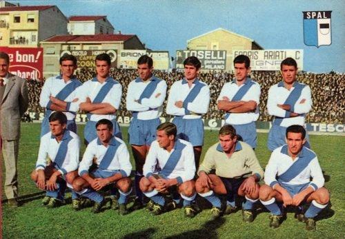 Stefano e il calcio. Spal, la squadra del cuore. Formazione del campionato 1964-65