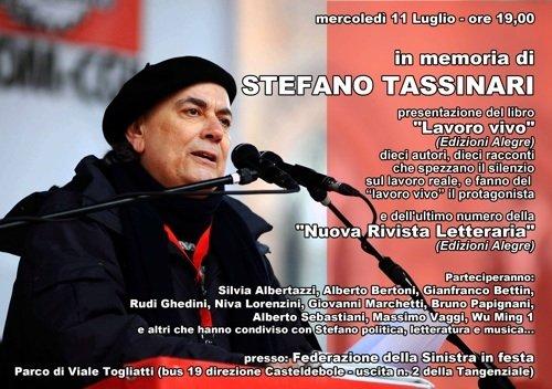 Serata in memoria di Stefano Tassinari - locandina