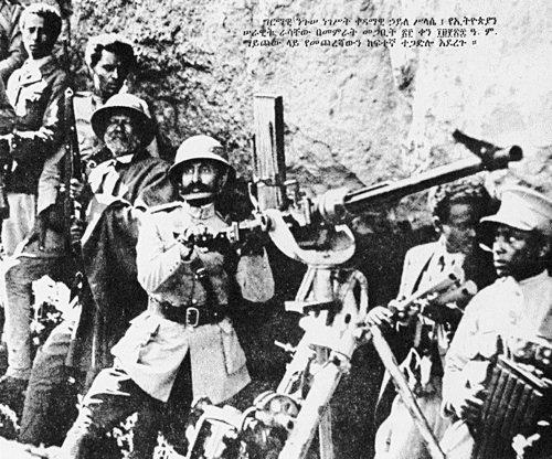Hailé Selassié alla Battaglia di Mai Ceu, 31 marzo 1936