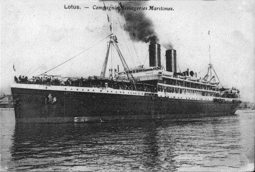 La nave a vapore francese Lotus
