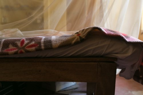 Il tavolaccio sul quale dorme Miavaldi