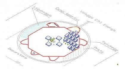 Il progetto di case popolari disegnato da Di Stefano Sr.