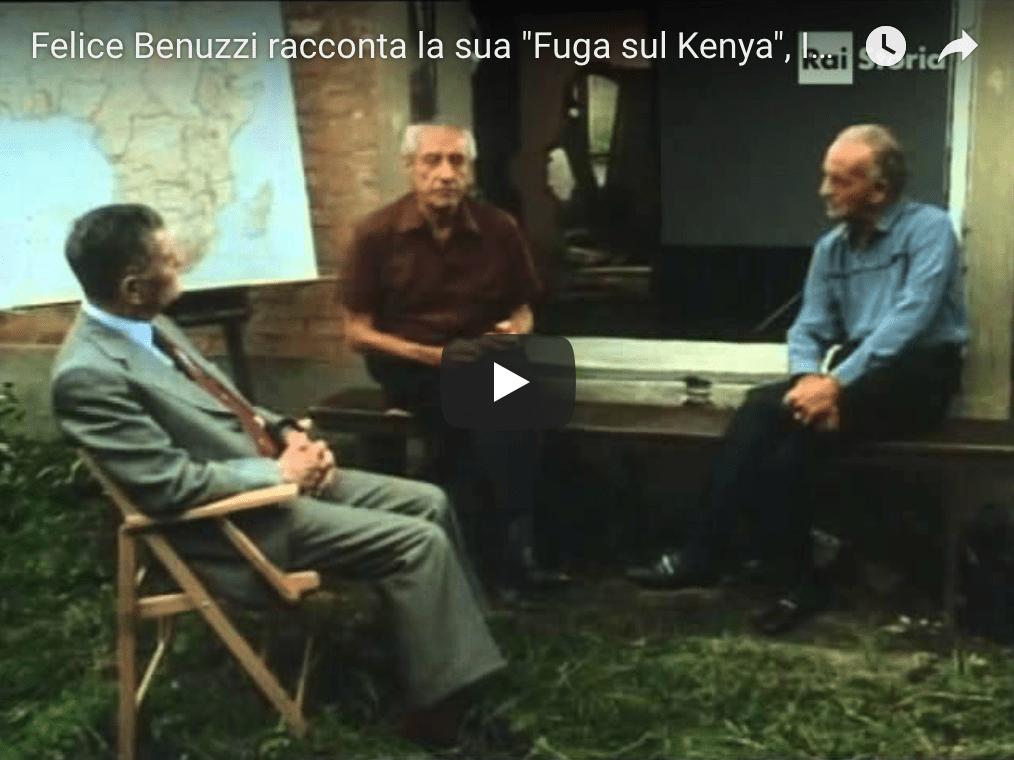 Felice Benuzzi racconta in TV la sua fuga sul Kenya (1987)