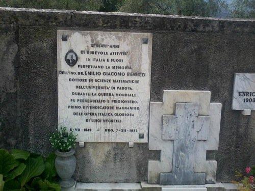 La tomba di Giacomo Emilio Benuzzi