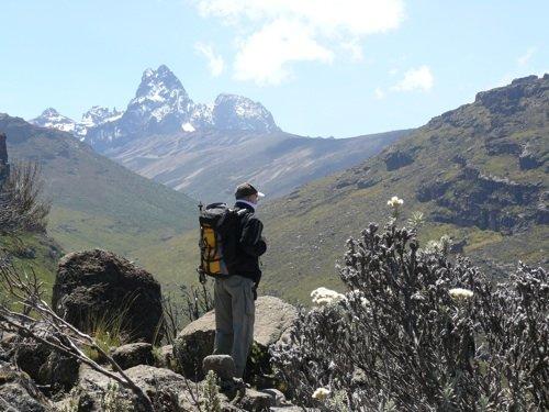 Roberto Santachiara sul Monte Kenya