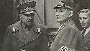 Da sinistra: i caporioni delle SS Odilo Globočnik e Friedrich Rainer. Rispettivamente, un nazista sloveno nato a Trieste e l'ultimo austriaco ad avere governato la città.