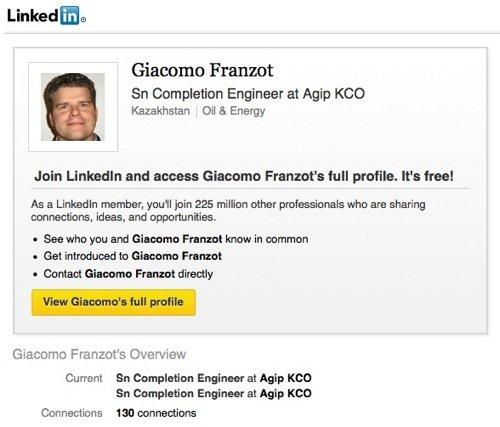Franzot su Linkedin
