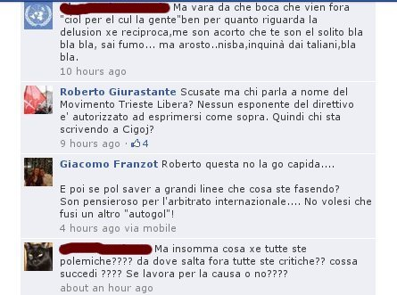 "Giurastante, come già Parovel, si chiede chi si stia firmando ""Movimento Trieste Libera"""