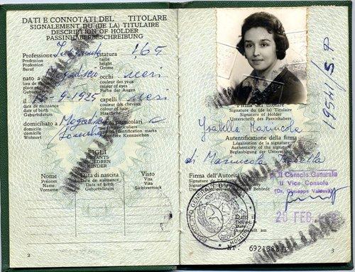 Il passaporto di Isabella