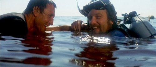 Ultima scena del film Lo squalo