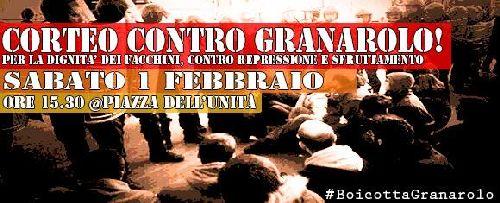 Corteo dei facchini contro Granarolo, Bologna, sabato 12 febbraio, h. 15:30 in Piazza dell'Unità