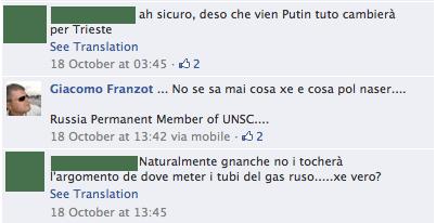 Franzot ricorda, sognante, che la Russia è membro permanente del consiglio di sicurezza dell'ONU