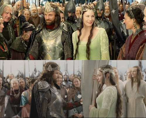 Aragorn e Arwen