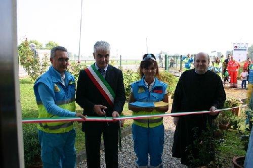 16 settembre 2012. Il sindaco di Cervesina (PV) Daniele Fuso inaugura la nuova sede della Croce Misericordia.