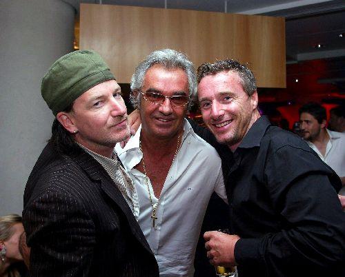 Bono, Briatore e l'altro non sappiamo chi sia