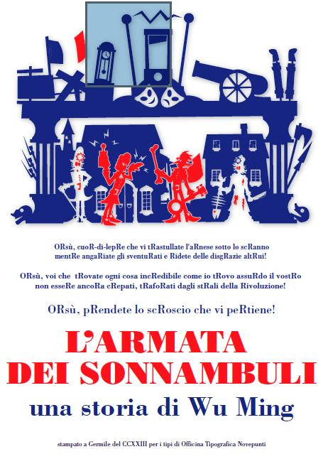 """Il poster realizzato dal tipografo rivoluzionario Claudio Madella. Clicca per visitare la pagina """"mappata""""."""