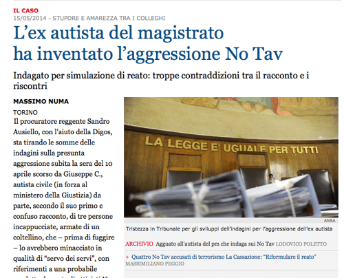 Solo ieri, quando ormai non serviva più, sul giornale diretto da Mario Calabresi è comparso un condizionale.
