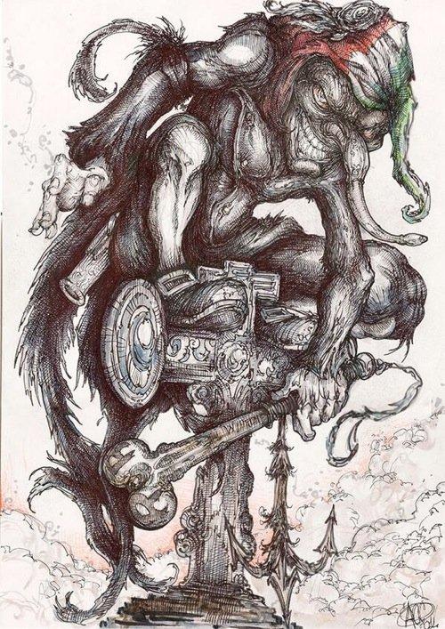 Scaramouche visto da Alessandro Caligaris. Clicca per vedere altre immagini ispirate al romanzo.