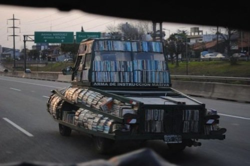 Tank Shaped Mobile Library