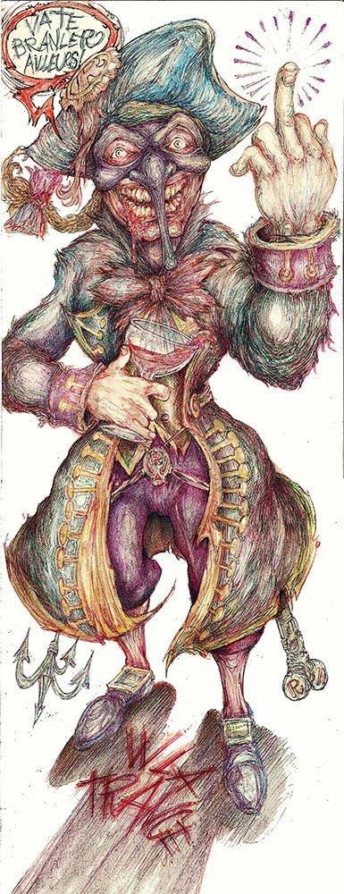Scaramouche visto da Alessandro Caligaris.