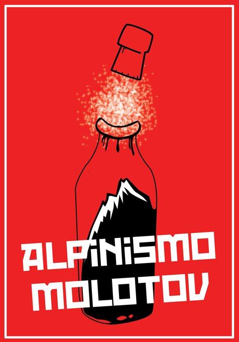 Logo per il lancio di Alpinismo Molotov, realizzato da Simone Vecchioni