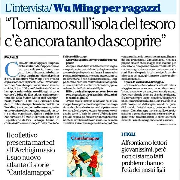 Intervista a Repubblica su Cantalamappa