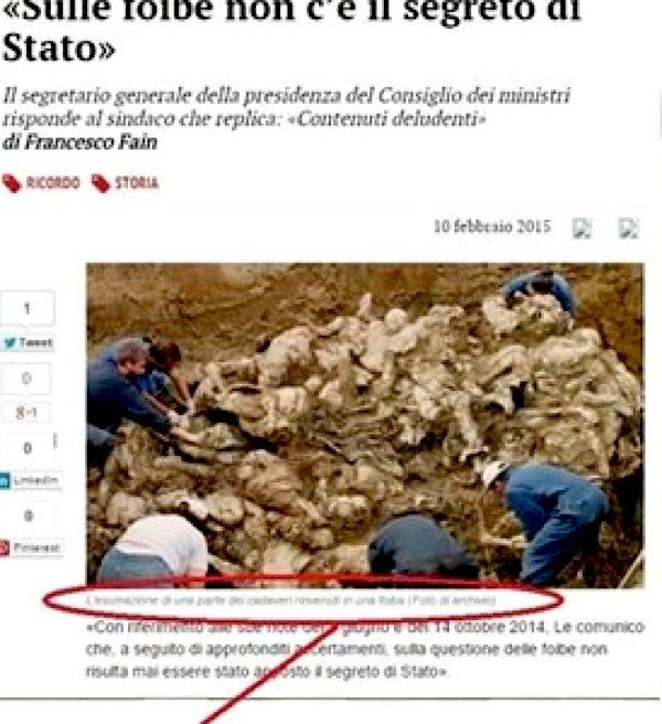 I morti di Srebrenica spacciati per infoibati italiani