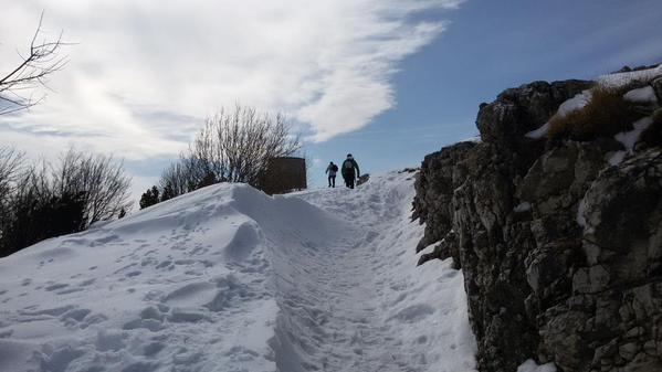 Verso la cima