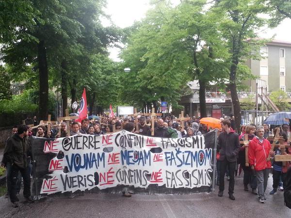 23 maggio 2015, la manifestazione antifascista di Gorizia