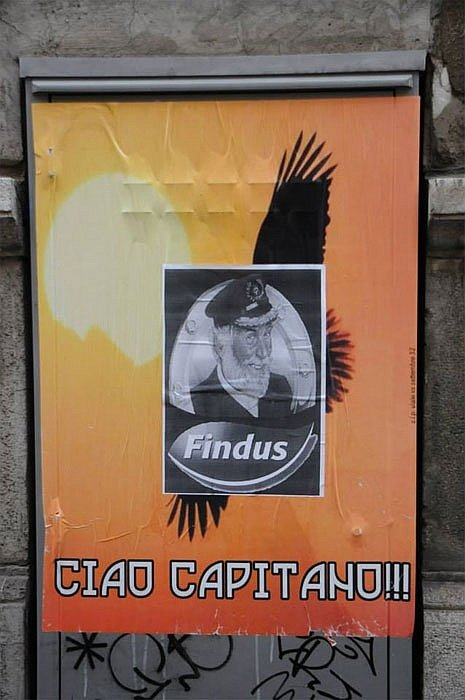 A proposito di punti di vista: nel 2013 i nazi triestini affissero in giro per la città manifesti anonimi con un'aquila nera e la scritta (plausibilmente dedicata a Priebke) «Ciao capitano». Altri anonimi li resero meno criptici aggiungendo l'immagine di Capitan Findus.