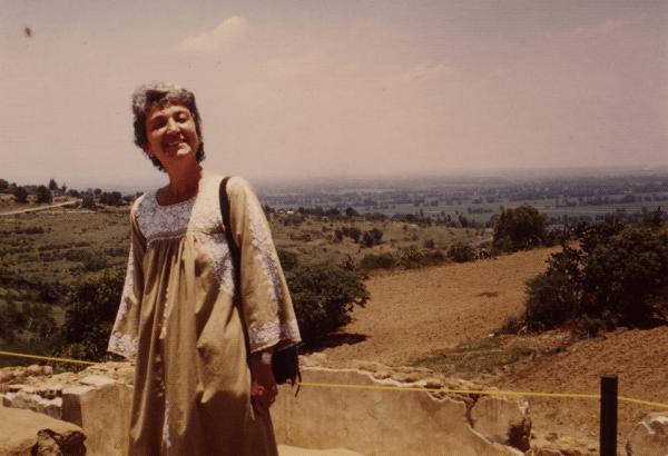 Franca Ongaro Basaglia. Clicca per leggere un estratto del libro che parla di lei. Qui è in Messico. Foto della Fondazione F. e F. Basaglia