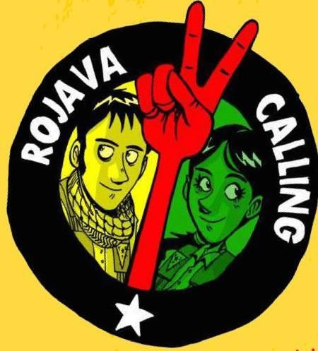 Rojava Calling, il logo di Zerocalcare