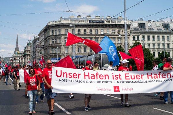 Vienna, 22 giugno 2013. Manifestazione di neoindipendentisti triestini.