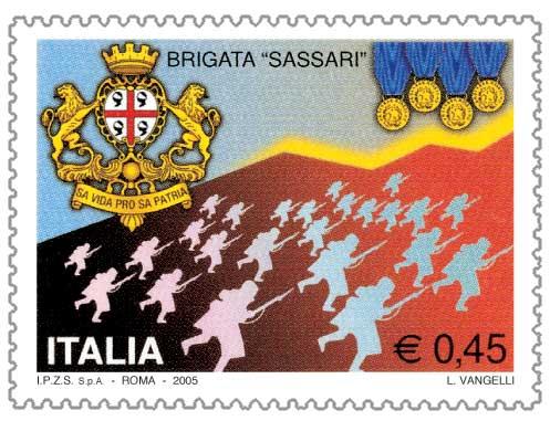 Brigata Sassari, il francobollo