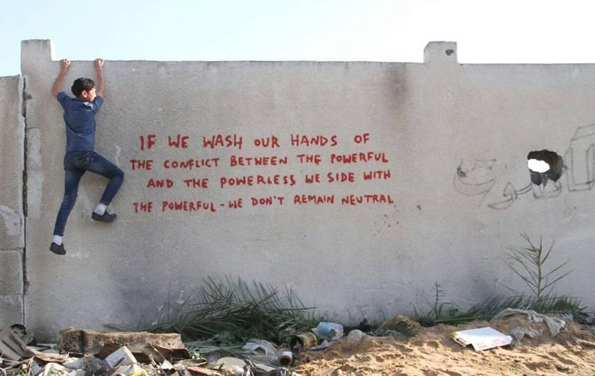 Se ci laviamo le mani del conflitto fra potenti e oppressi stiamo dalla parte dei potenti, non possiamo dirci neutrali.