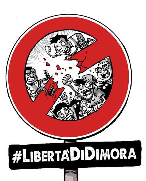 Corteo 26 settembre, Bologna, per la libertà di dimora