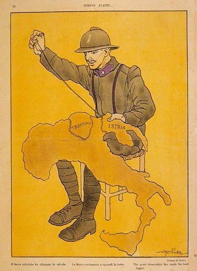 Fu la propaganda a cucire insieme Trentino, Istria e Dalmazia