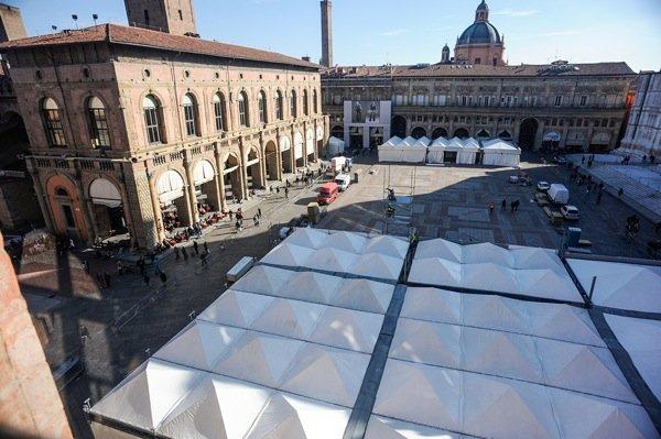 Piazza Maggiore come si presentava il 7 novembre 2015