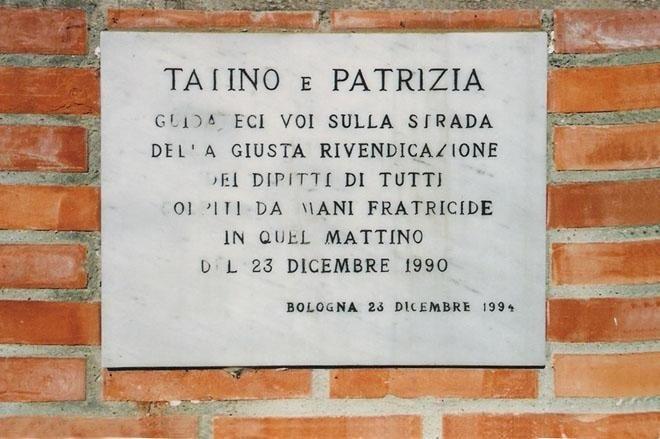 Lapide per Tatino e Patrizia
