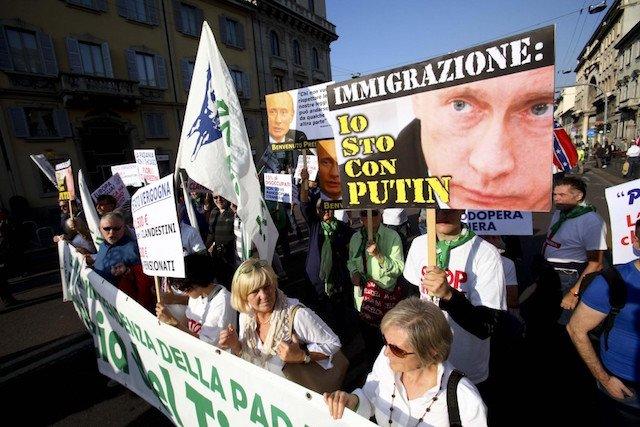 Milano, 18 ottobre 2014, manifestazione fascioleghista.