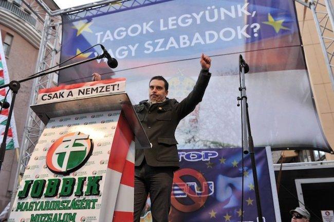 Manifestazione del partito di estrema destra ungherese Jobbik.