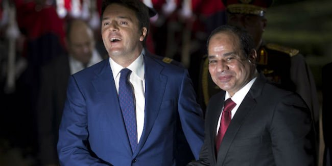 al-Sisi e Renzi
