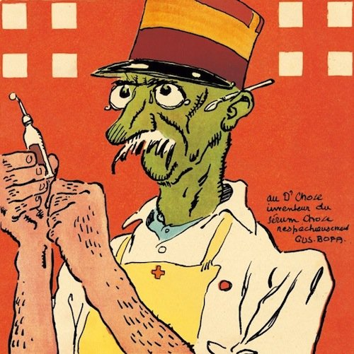 Gus Bofa, La baïonnette, copertina del n.87, 1917