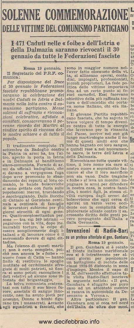 Il primo Giorno del Ricordo, 1944
