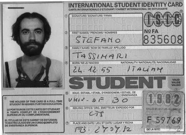 Stefano Tassinari nel 1982