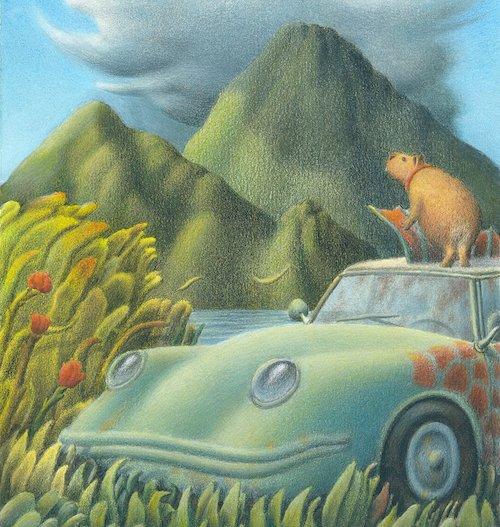 Cosa starà fissando Glaston, il capibara dei Cantalamappa?