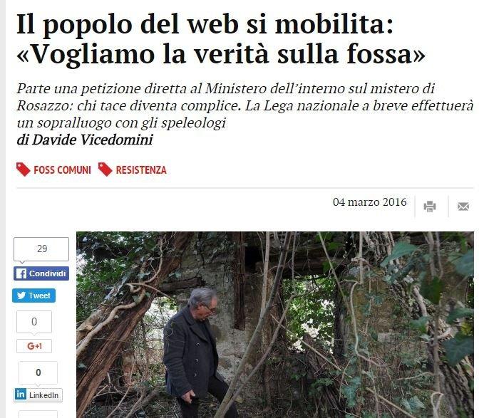 Il popolo del web vuole la verità sulla foiba!!11!!