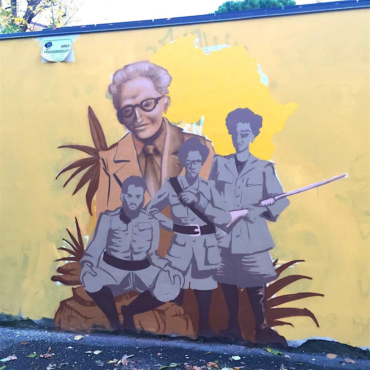 Il murale dedicato a Ilio Barontini